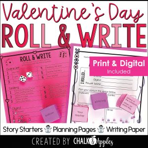 02 Valentine s Preview Page 1 - Valentine's Day Writing Activity - Roll & Write Center - Distance Learning