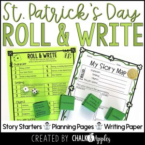 03 St Patricks Day Preview.001 - Year-Long Holiday Writing Activities Bundle (Roll & Write)