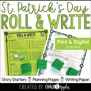03 St Patricks Thumbnails Page 1 - St. Patrick's Day Writing Activity - Roll & Write Center - Distance Learning