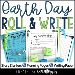 05 Earth Day Preview.001 - Year-Long Holiday Writing Activities Bundle (Roll & Write)