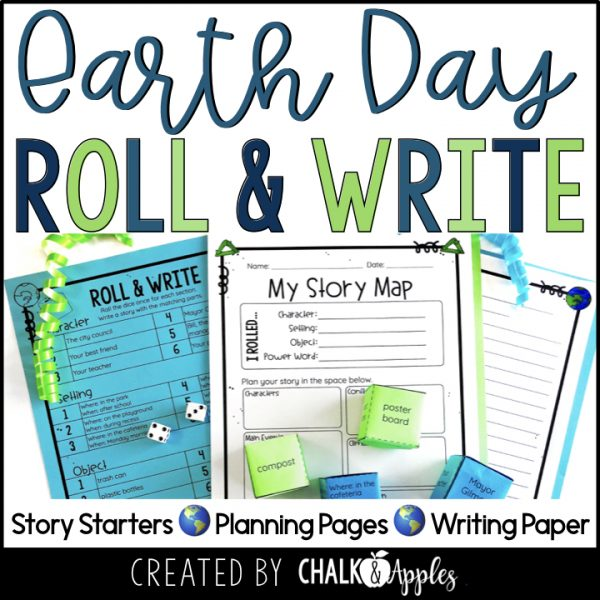 05 Earth Day Preview.001 - Earth Day Writing Activity - Roll & Write Center