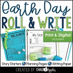 05 Earth Day Preview Page 1 - Earth Day Writing Activity - Roll & Write Center - Distance Learning