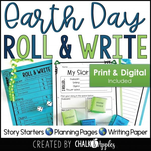 05 Earth Day Preview Page 1 scaled - Earth Day Writing Activity - Roll & Write Center - Distance Learning