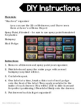 0552BA87 A0CC 477C B691 8C33D8ECB33C - Teacher Toolbox - Editable Chalkboard Labels