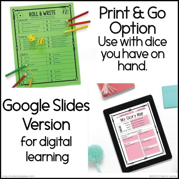 08 Back to School Preview Page 2 - Back to School Writing Activity - Roll & Write Center - Distance Learning