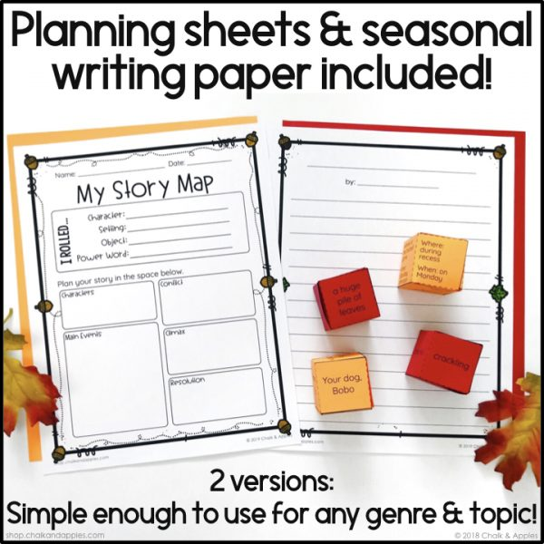09 Fall Preview.004 - Fall Writing Activity - Roll & Write Center - Distance Learning