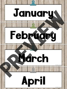 12C1C5B9 11FF 4DB6 A708 AC5A361D92EA - Editable Calendar Set - Rustic Farmhouse Chic