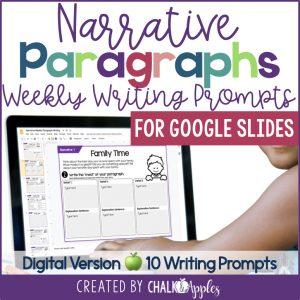 2 Thumbnails.001 - Narrative Paragraphs - DIGITAL Weekly Paragraph Writing Prompts