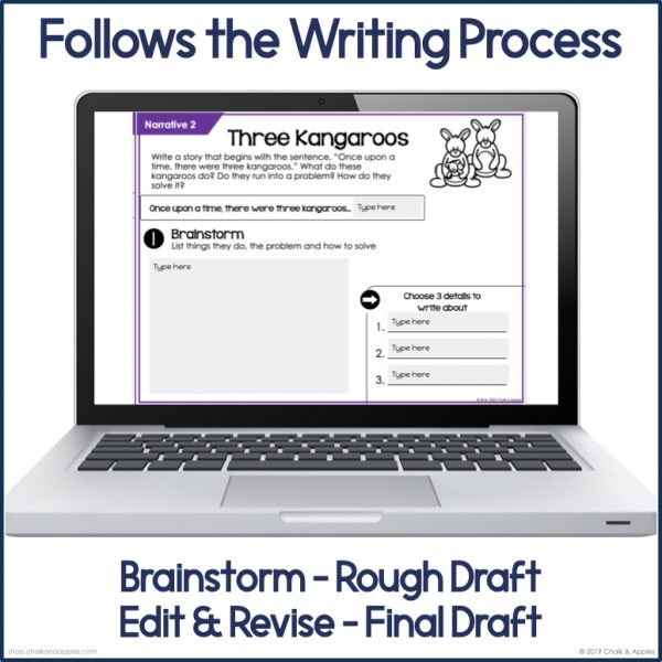 2 Thumbnails.002 - Narrative Paragraphs - DIGITAL Weekly Paragraph Writing Prompts