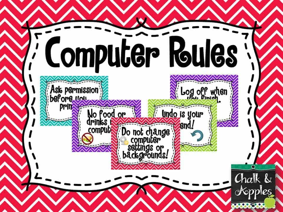 Computer Rules - Computer Rules - Freebie Friday