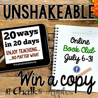 Unshakeablegiveaway - Learning to enjoy teaching again: Unshakeable