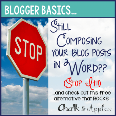 Tech Tip: Still Writing Blog Posts in Word? Stop it!