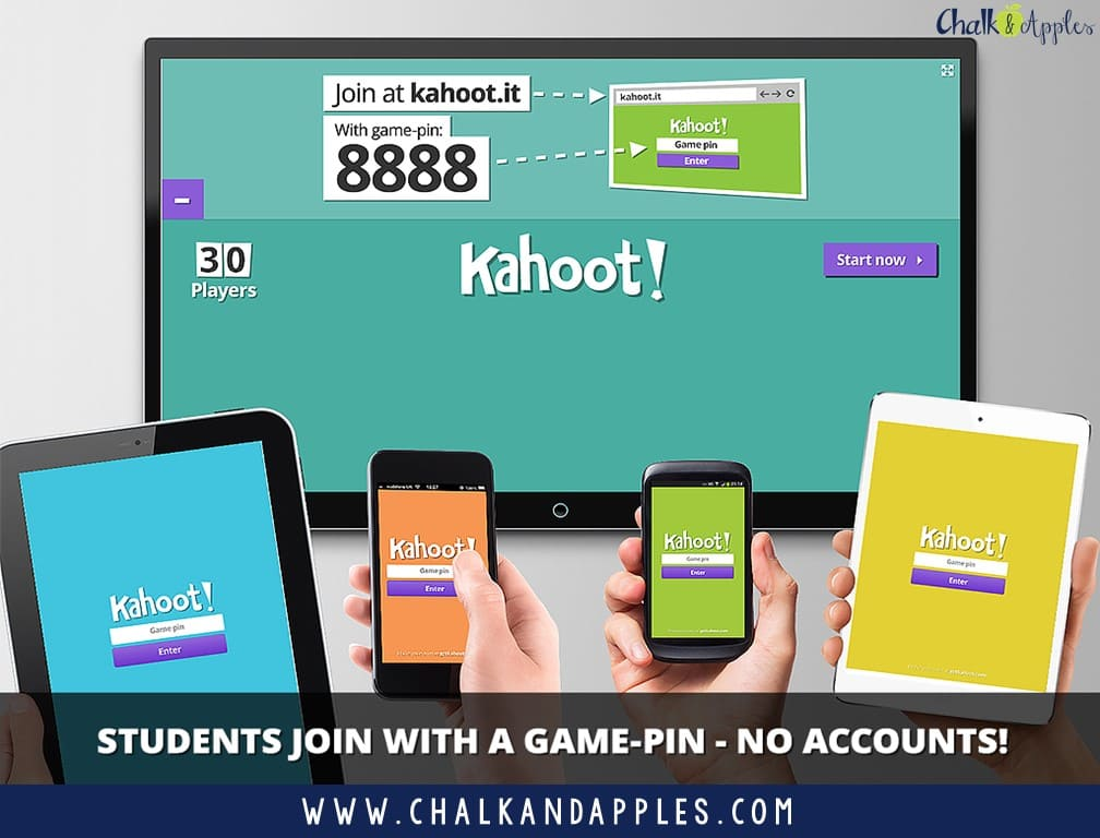 Must Try Classroom Tech: Kahoot makes learning fun with engaging review games in a trivia-style atmosphere! A student favorite! | www.chalkandapples.com