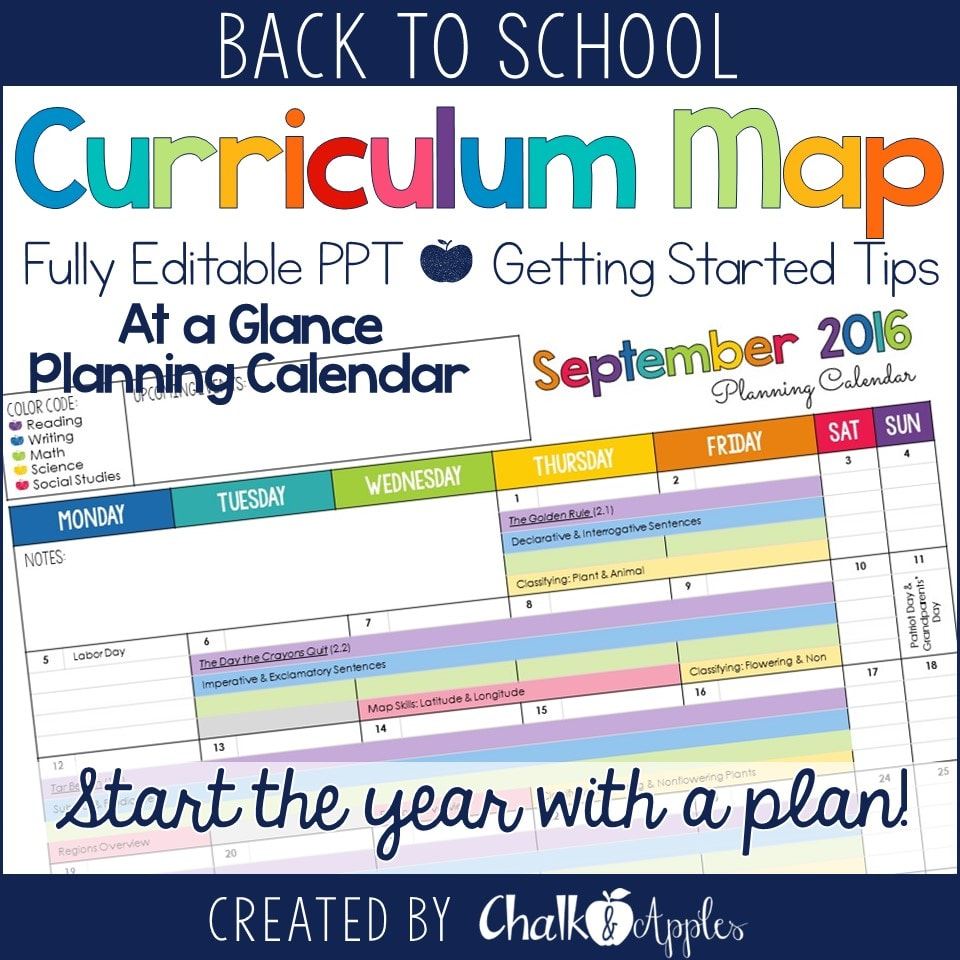 CurriculumMap - Power Up Your Teaching by Creating a Curriculum Map