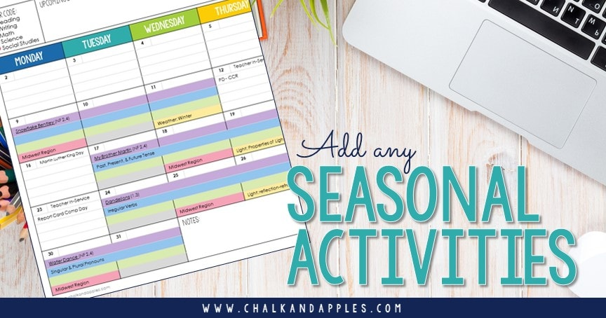 Place seasonal activities first