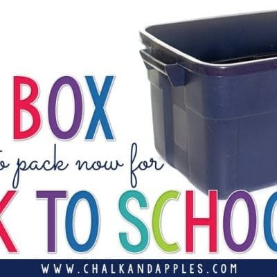The ONE box you need to pack now for Back to School