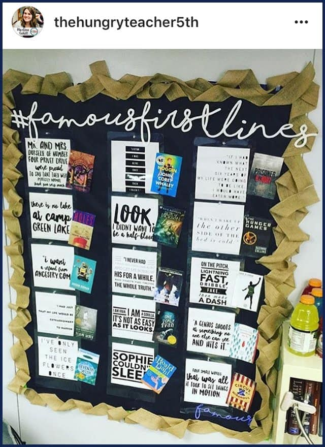 FamousFirstLinesBB - Teach Your Students to Love Reading: 3 Strategies that Work