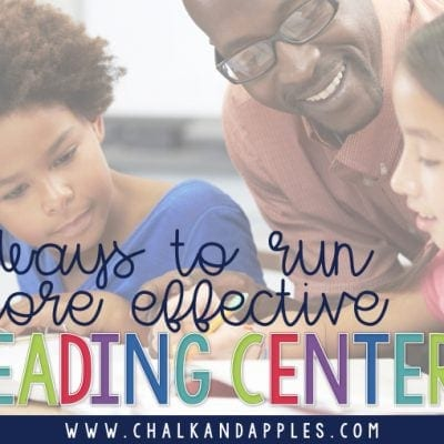 5 Ways to Keep Reading Centers Running Smoothly