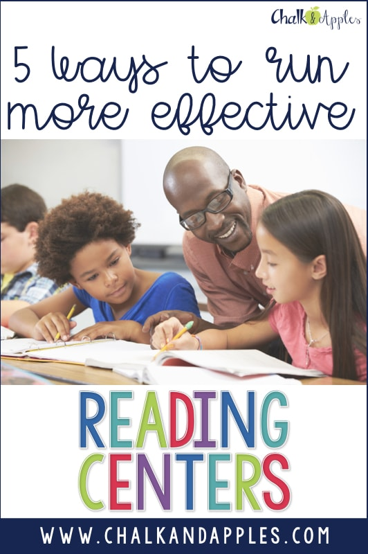 Proven ways to keep your reading centers running smoothly so that you can teach guided reading or small groups without interruptions!