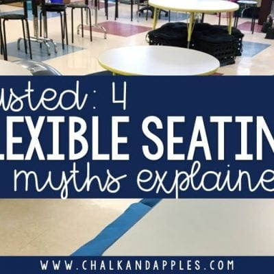 Flexible Seating is not about yoga balls.