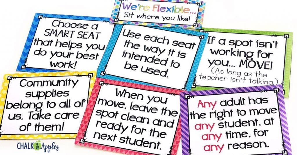 Flexibleseatingrules - Flexible Seating is not about yoga balls.