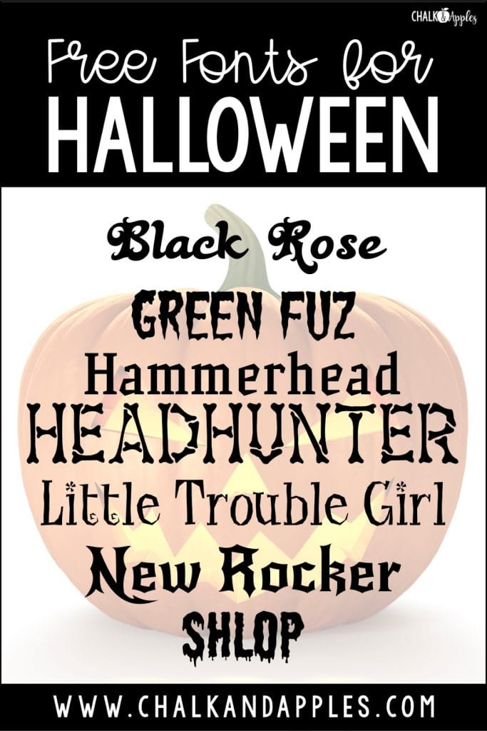 Use spooky fonts for a little halloween fun in class!