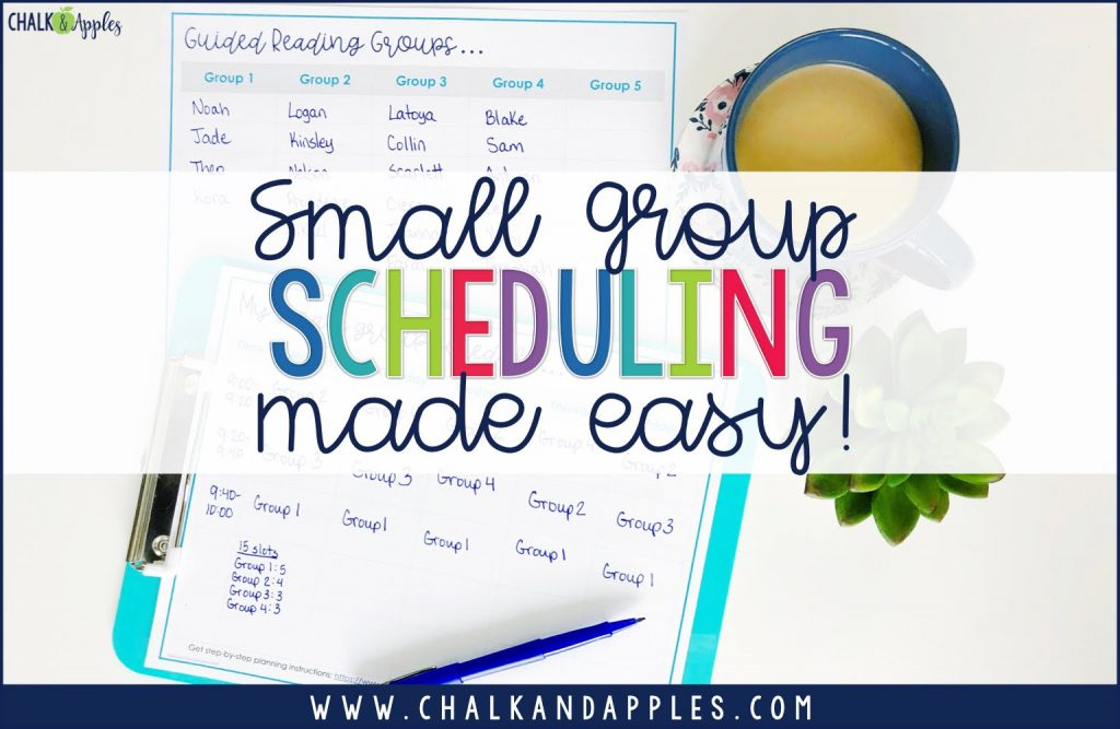 A simple step-by-step system to schedule your small group rotations in 20 minutes or less!