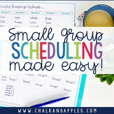 How to schedule small groups without losing your mind!