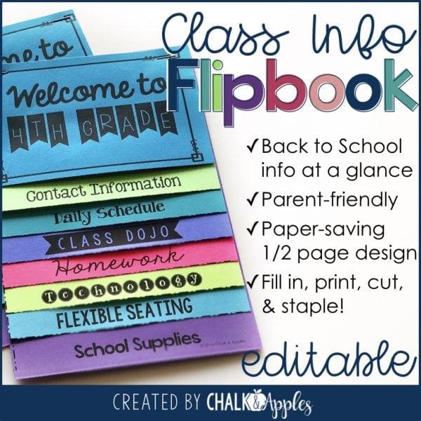 Class information flipbook