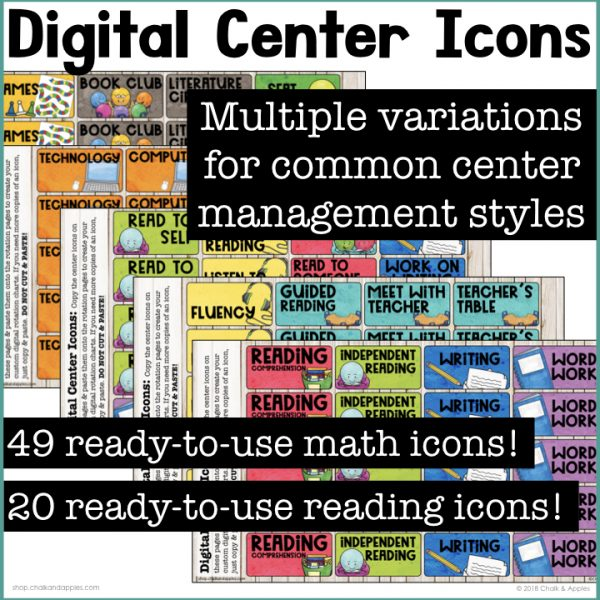 Ready to use digital center icons