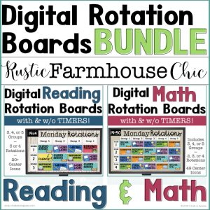 Digital rotation boards for reading & math centers