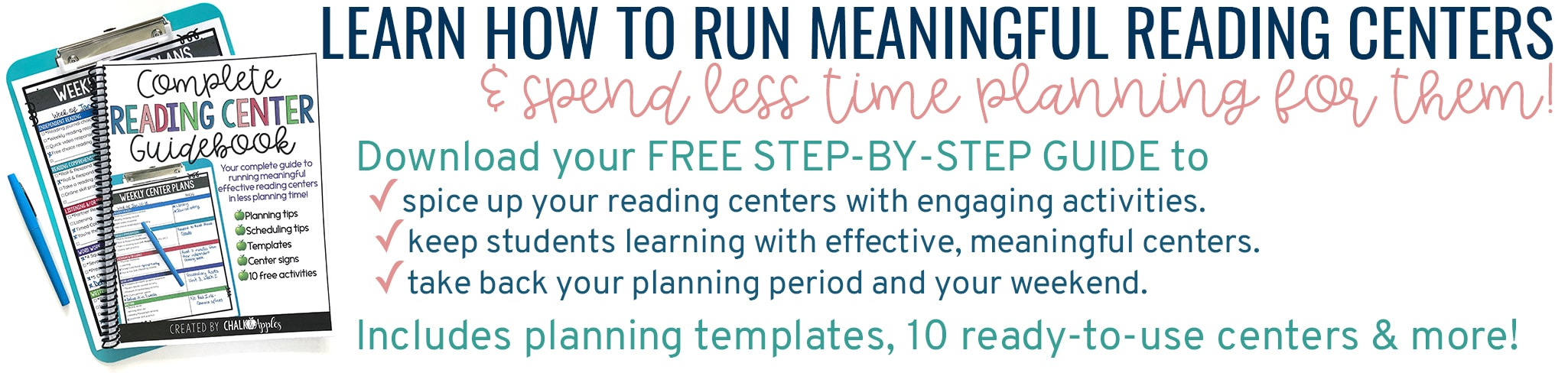 Learn how to run meaningful reading centers and spend LESS time planning them!
