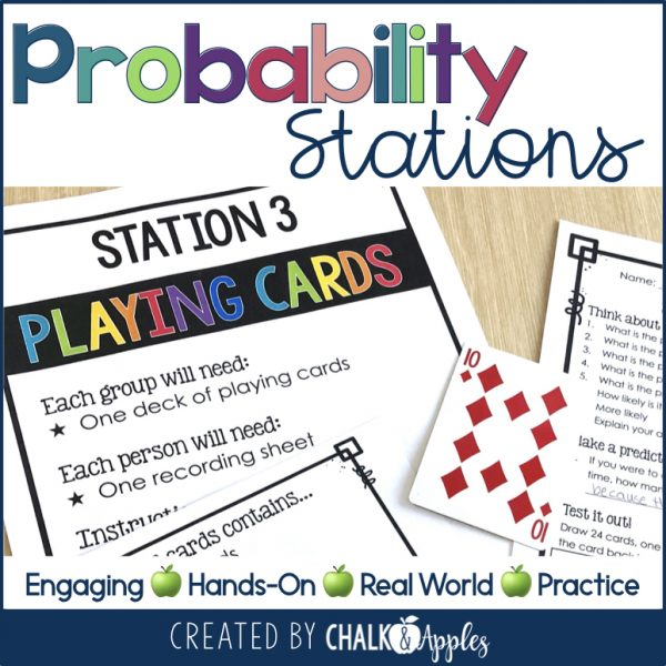 Explore probability through hands on station activities