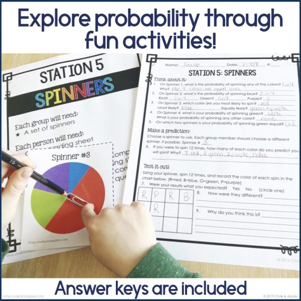 Probability Stations 2 - Probability Station Activities