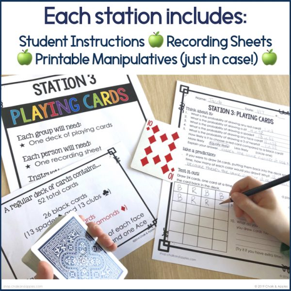 Probability Stations 4 - Probability Station Activities