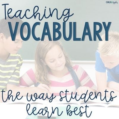 Teaching Vocabulary So Students Really Learn It