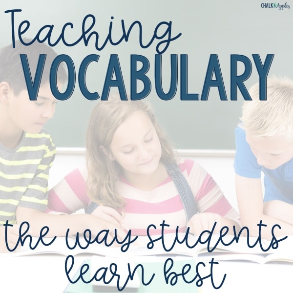 Teaching Vocabulary so students learn