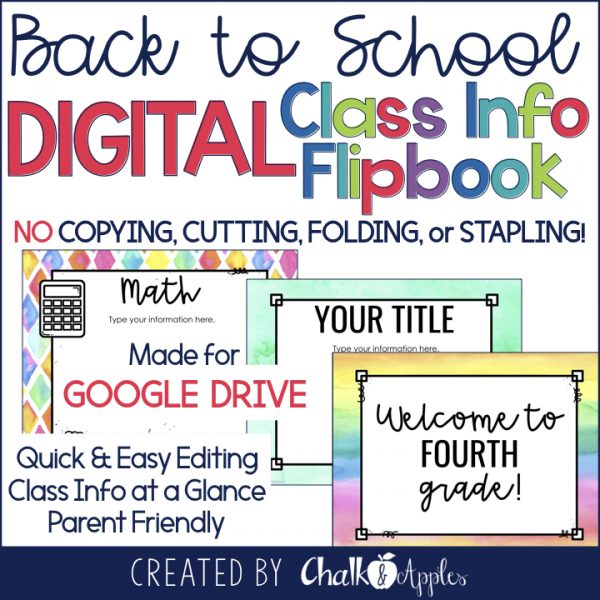Google Version - Back to School Digital Flipbook