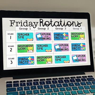 Digital Reading & Math Rotation Boards