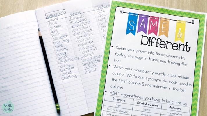 Vocabulary Practice Activities for Upper Elementary Grades 3-6