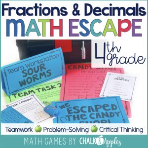 Fraction & Decimal Math Escape