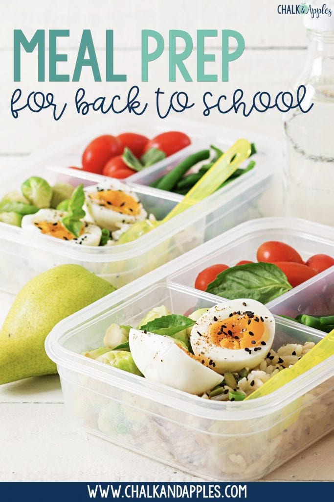 Back to School tip: meal prep the weekend before school starts!