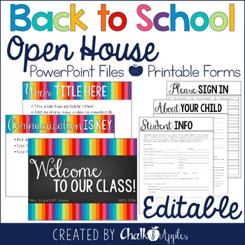 22FAD1C5 F943 4040 B883 D4BE8BACD44E - Editable Back to School Presentation Bundle {Open House & Procedures}