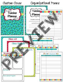 2DFBDD8C 6676 4C17 8045 AB9DFA607E7D - Editable Teacher Planner - Turquoise Dots