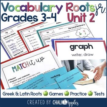 3rd 4th Grade Vocabulary Unit 2 Greek Latin Roots 1.jpg - 3rd & 4th Grade Vocabulary UNIT 2 - Greek & Latin Roots