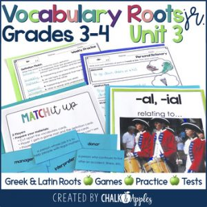 3rd 4th Grade Vocabulary Unit 3 Greek Latin Roots 1.jpg - 3rd & 4th Grade Vocabulary UNIT 3 - Greek & Latin Roots