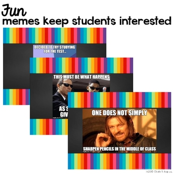 426A5038 50BC 4FC1 A602 9EF56D9C6019 - Classroom Procedures PowerPoint with Memes (Editable!)