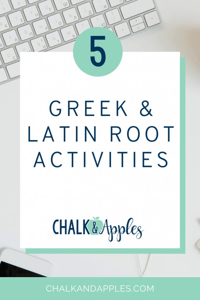 5 greek and latin activities pin - 5 Greek and Latin Root Activities