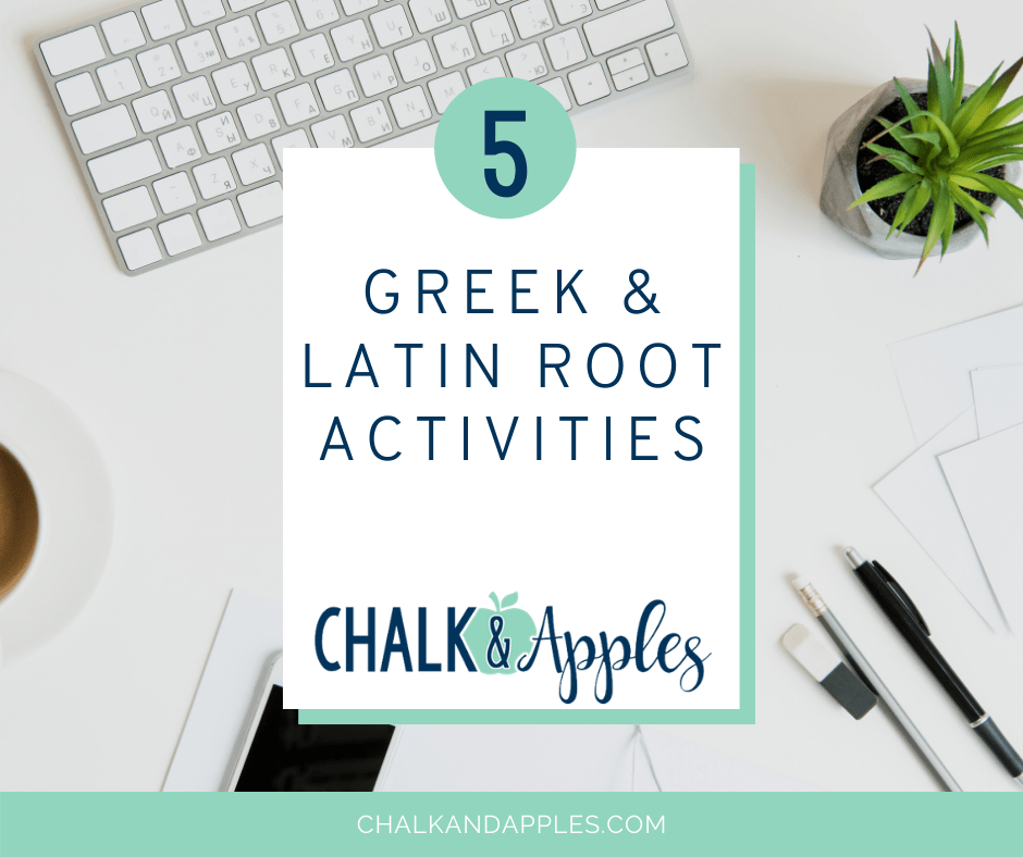 5 Greek and Latin Root Activities to use for students in the classroom. Digital greek and latin root activities included.