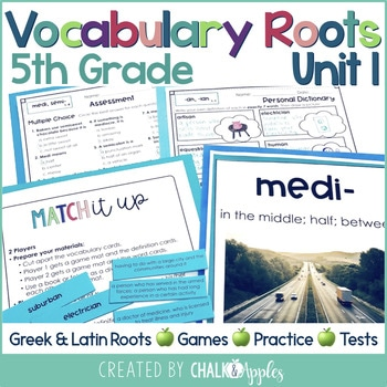 5th Grade Vocabulary Greek Latin Roots Unit 1 1.jpg - 5th Grade Vocabulary Greek & Latin Roots - Unit 1